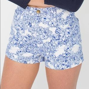 American Apparel high waisted floral Shorts